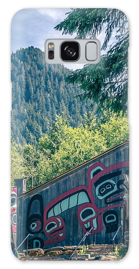 Village Galaxy S8 Case featuring the photograph Totems Art And Carvings At Saxman Village In Ketchikan Alaska by Alex Grichenko