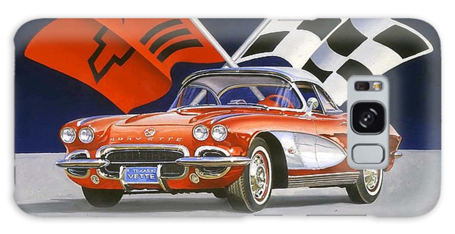 Chevy Corvette Galaxy S8 Case featuring the painting 62 Vette by Howard Dubois