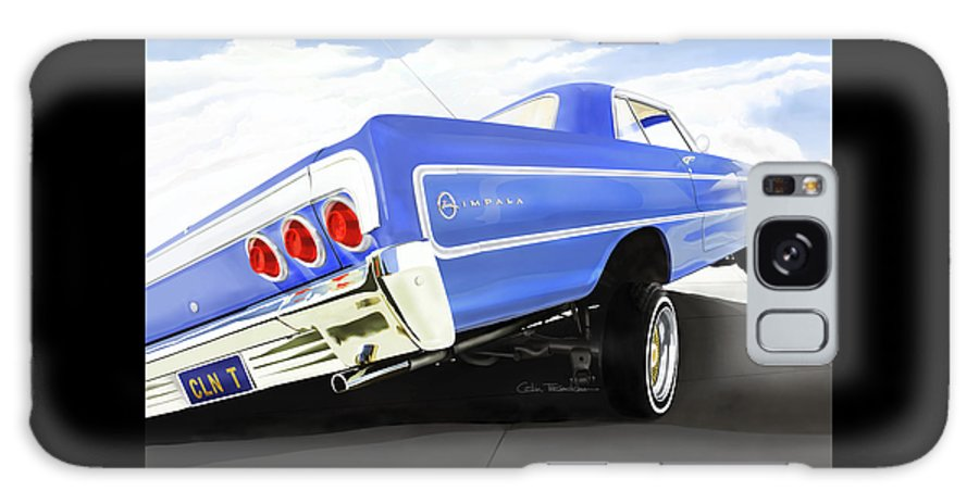 Lowrider Galaxy S8 Case featuring the painting 64 Impala Lowrider by MOTORVATE STUDIO Colin Tresadern