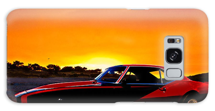 67 Galaxy S8 Case featuring the photograph 69 Camaro Up At Rocky Ridge For Sunset by Chas Sinklier