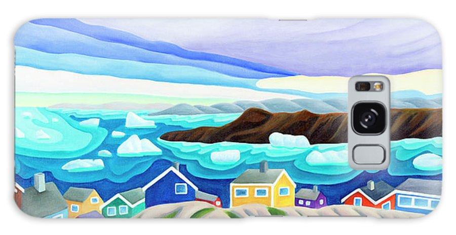 Arctic Landscape. Greenland Galaxy Case featuring the painting 69 Degrees 13 Minutes North by Lynn Soehner