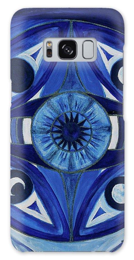 Mandala Galaxy S8 Case featuring the painting 6th Mandala - Third Eye Chakra by Jennifer Christenson