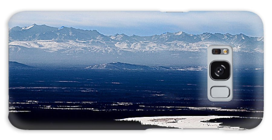 Denali Park Alaska Snow Montain Blue Sky Landscape Artic Denali Park Alaska Snow Montain Blue Sky Landscape Artic Framed Prints Galaxy S8 Case featuring the photograph Denali Park - Alaska by Galeria Trompiz