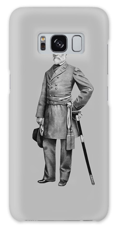 Robert E Lee Galaxy S8 Case featuring the mixed media General Robert E Lee by War Is Hell Store