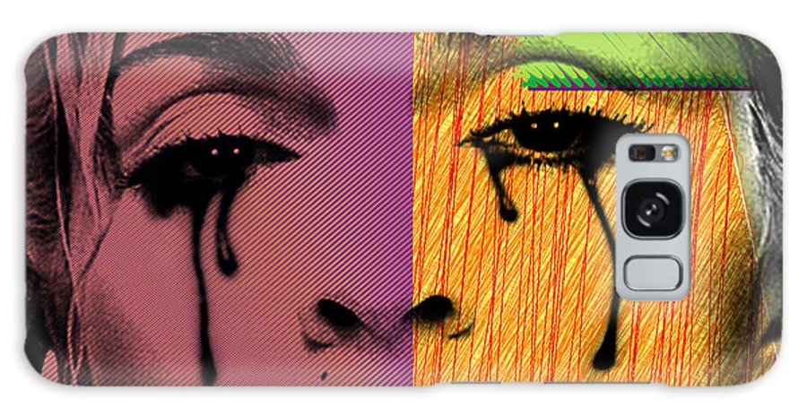 Madonna Galaxy Case featuring the digital art Madonna by Mark Ashkenazi