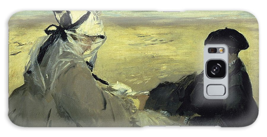 French Painters Galaxy S8 Case featuring the painting On The Beach by Edouard Manet