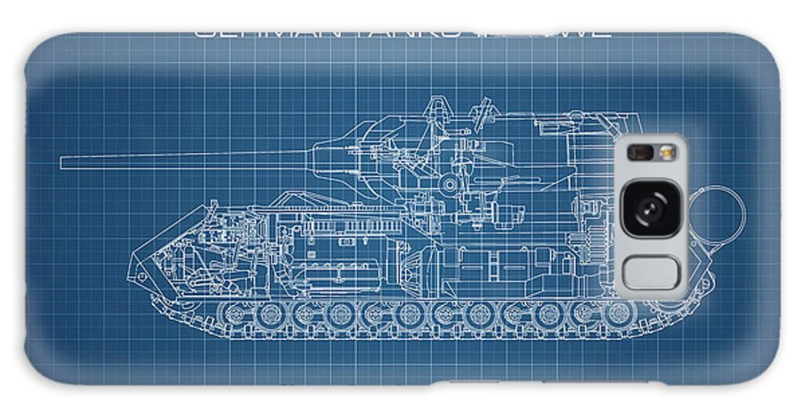 Panzer Of The German Wehrmacht - Blueprint Galaxy S8 Case featuring the digital art Panzerkampfwagen Maus by Marcel Thomas