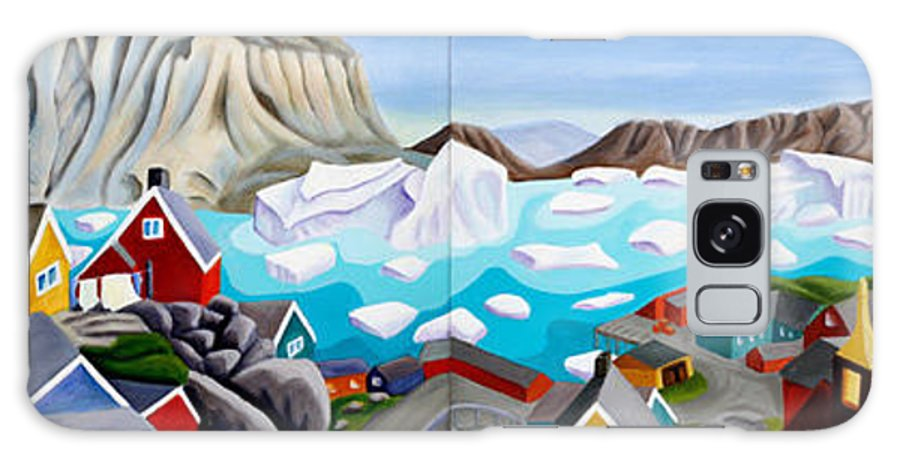 Landscape Galaxy Case featuring the painting 70 Degrees 41 Minutes 21 Seconds North by Lynn Soehner