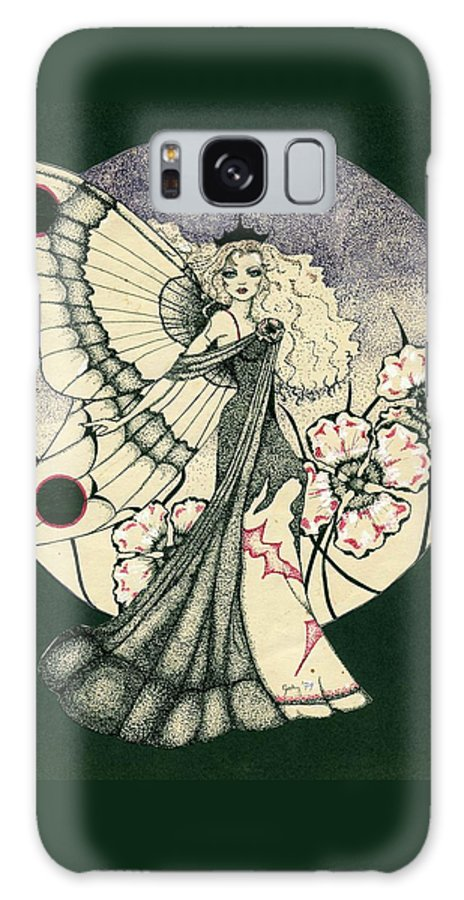 70's Style Galaxy S8 Case featuring the drawing 70's Angel by V Boge