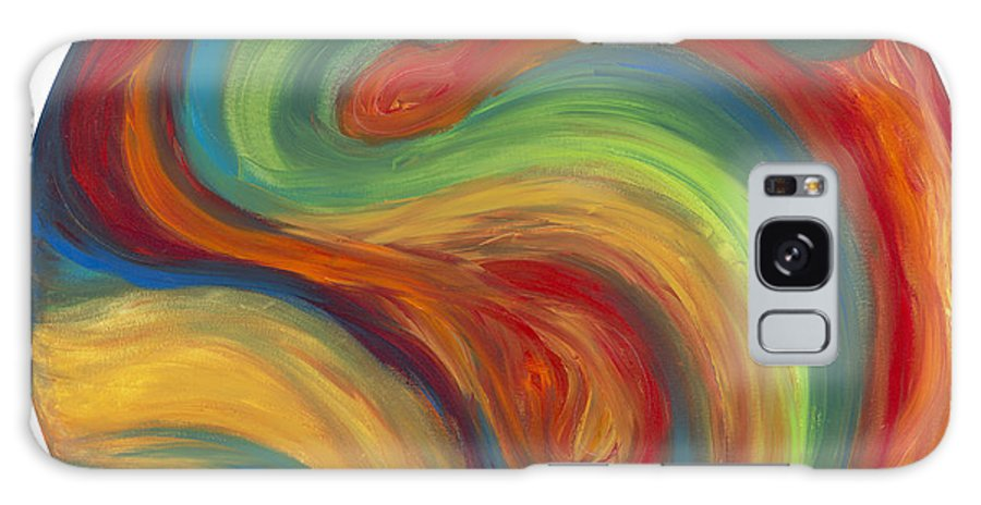 Acrylic Abstract Canvas Galaxy S8 Case featuring the painting 70s Influence by Patty Vicknair