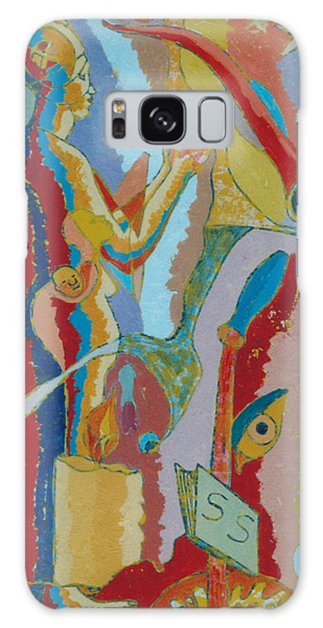 Johnpowellpaintings Galaxy S8 Case featuring the painting 74 by John Powell
