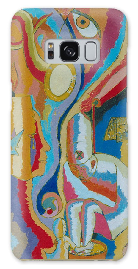Johnpowellpaintings Galaxy S8 Case featuring the painting 76 by John Powell