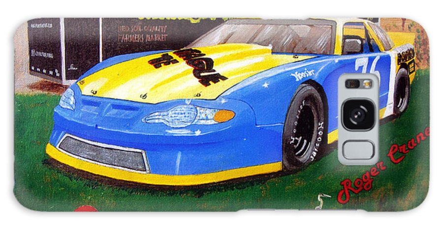 Nascar Galaxy S8 Case featuring the painting 76 Roger Crane by Richard Le Page