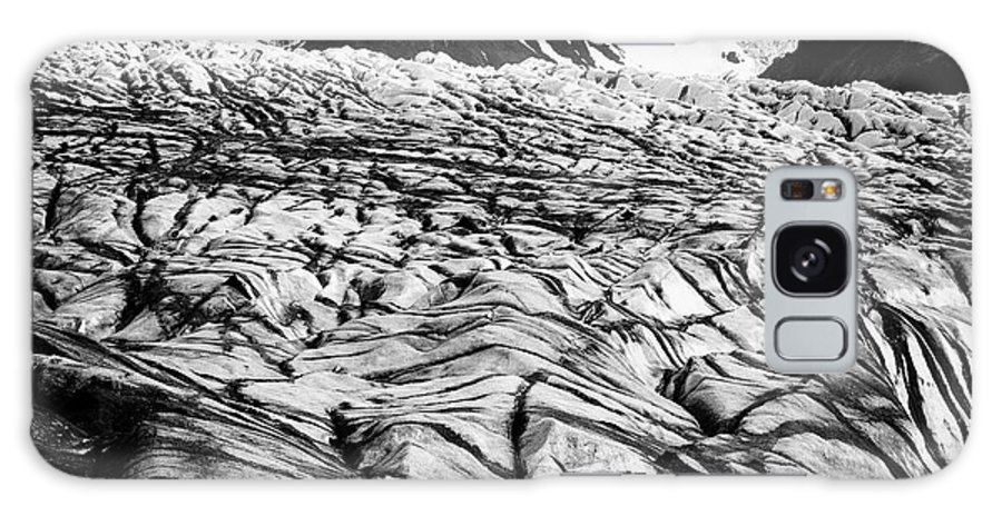 Skaftafell Galaxy S8 Case featuring the photograph ash covered Skaftafell glacier and end moraine Vatnajokull national park in Iceland by Joe Fox