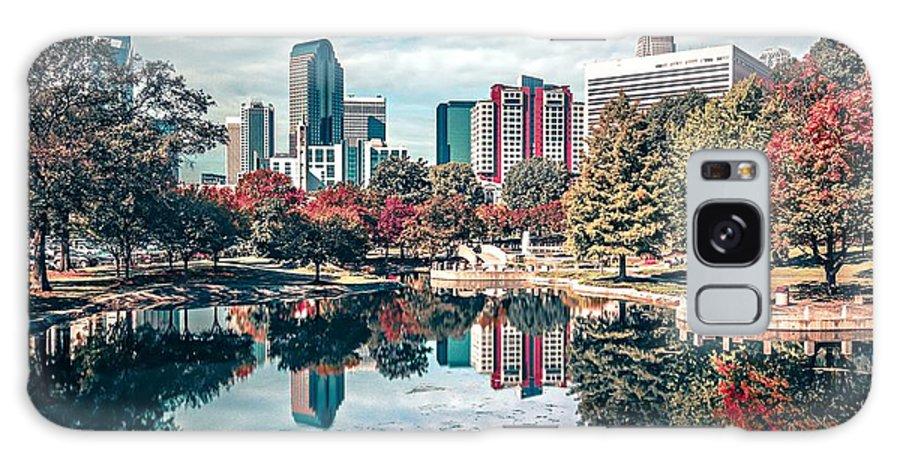 Charlotte Galaxy S8 Case featuring the photograph Charlotte City North Carolina Cityscape During Autumn Season by Alex Grichenko