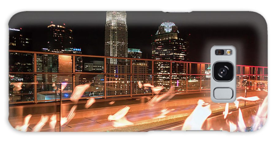View Galaxy S8 Case featuring the photograph Charlotte North Carolina Skyline View At Night From Roof Top Res by Alex Grichenko