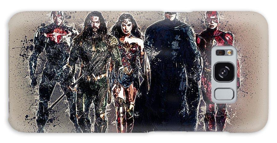 Batman Galaxy S8 Case featuring the digital art Justice League by Anna J Davis