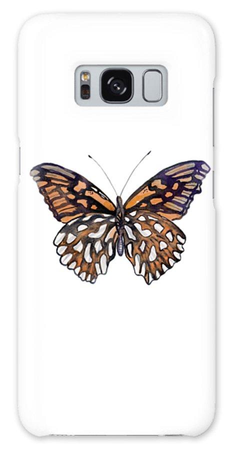 Mexican Silver Spot Butterfly Galaxy S8 Case featuring the painting 9 Mexican Silver Spot Butterfly by Amy Kirkpatrick