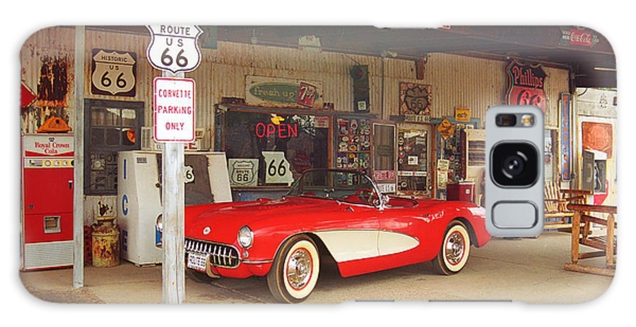 66 Galaxy S8 Case featuring the photograph Route 66 Corvette by Frank Romeo