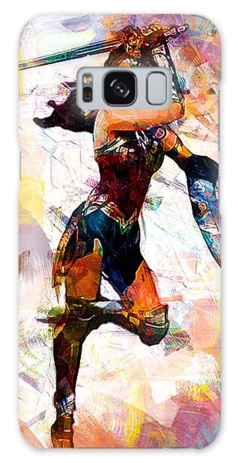 Batman Galaxy S8 Case featuring the digital art Wonder Woman by Anna J Davis