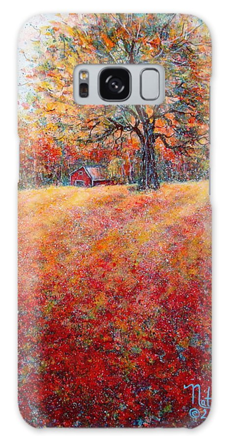 Autumn Landscape Galaxy S8 Case featuring the painting A Beautiful Autumn Day by Natalie Holland