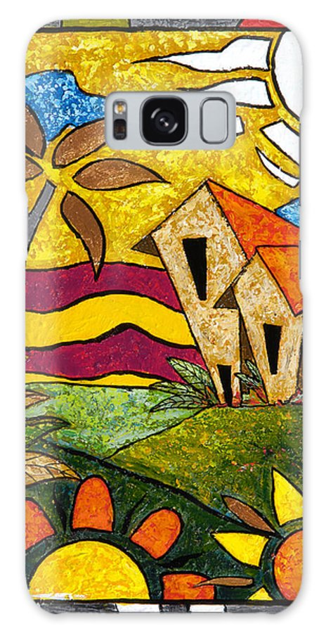 Puerto Rico Galaxy Case featuring the painting A Beautiful Day by Oscar Ortiz
