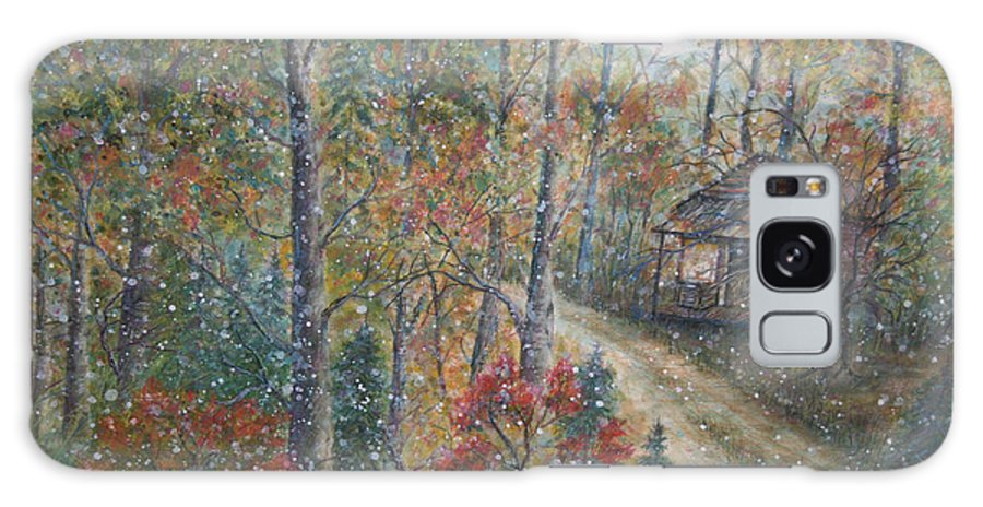 Country Road; Old House; Trees Galaxy S8 Case featuring the painting A Bend In The Road by Ben Kiger