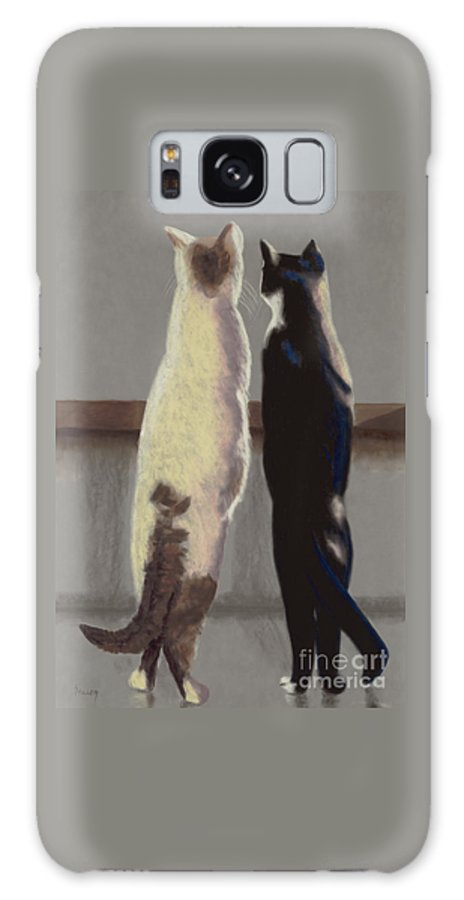Cat Galaxy Case featuring the painting A Bird by Linda Hiller