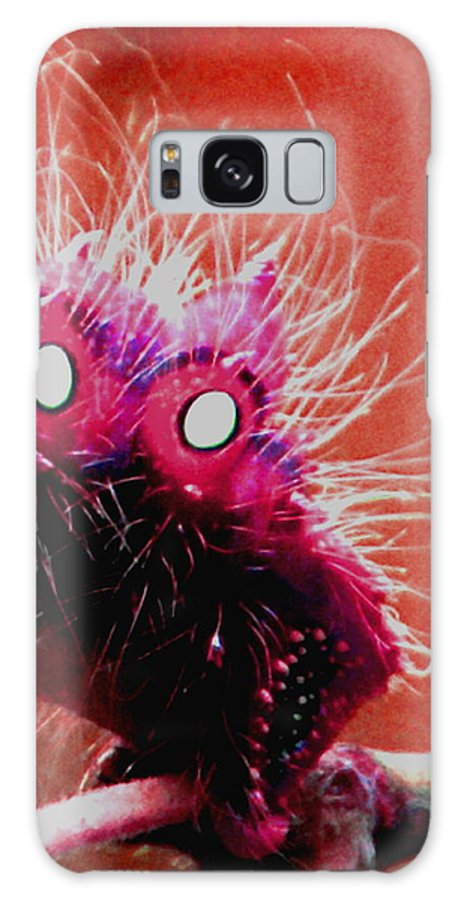 Galaxy S8 Case featuring the digital art A Cats Mouth by Debbie May