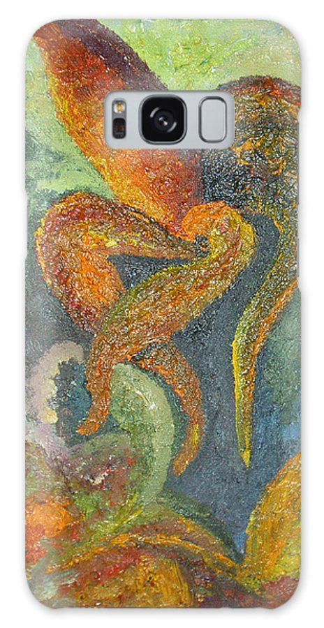 Flower Galaxy Case featuring the painting A Dancing Flower by Karina Ishkhanova