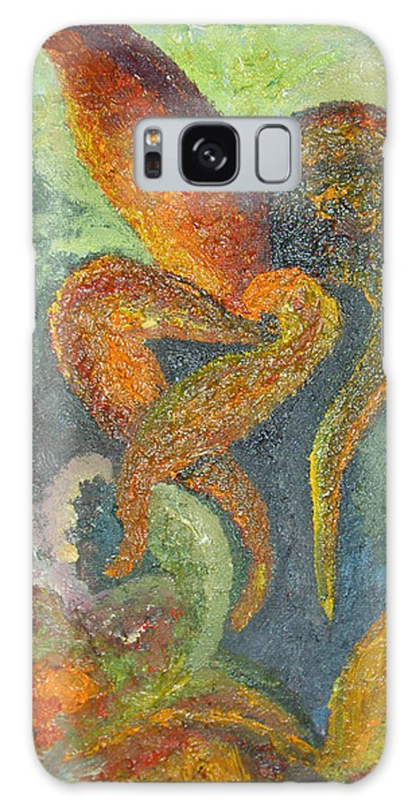 Flower Galaxy S8 Case featuring the painting A Dancing Flower by Karina Ishkhanova