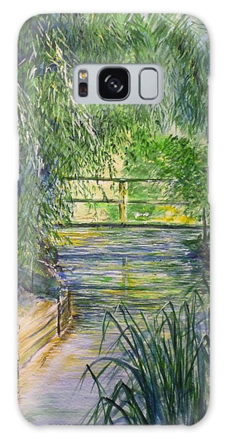 Giverny Galaxy Case featuring the painting A Day At Giverny by Lizzy Forrester