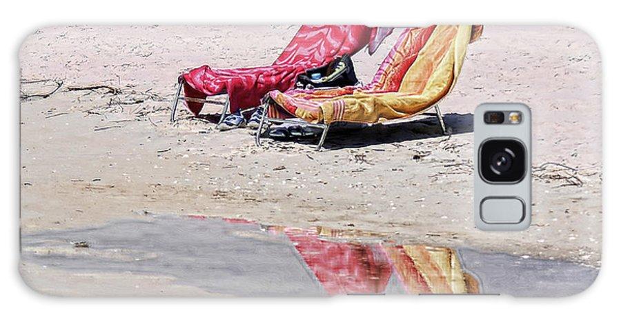 Beach Galaxy S8 Case featuring the photograph A Day At The Beach by Susan Cliett