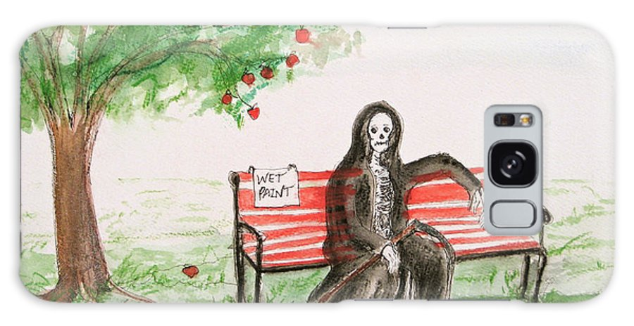 Darkestartist Day Death Holiday Humor Ink Off Paint Park Watercolor Watercolour Galaxy S8 Case featuring the painting A Day At The Park by Darkest Artist