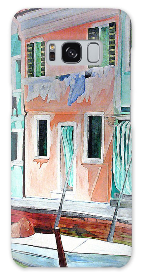 Italy Galaxy S8 Case featuring the painting A Day In Burrano by Patricia Arroyo