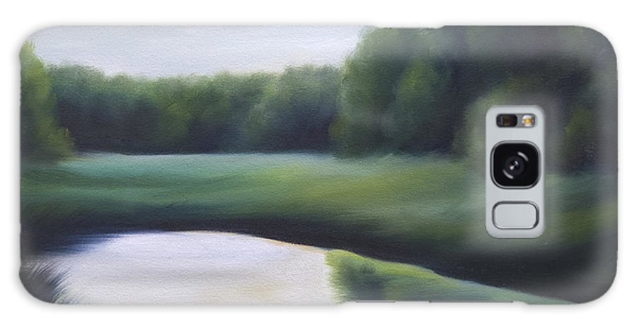 Nature; Lake; Sunset; Sunrise; Serene; Forest; Trees; Water; Ripples; Clearing; Lagoon; James Christopher Hill; Jameshillgallery.com; Foliage; Sky; Realism; Oils; Green; Tree Galaxy S8 Case featuring the painting A Day In The Life 3 by James Christopher Hill