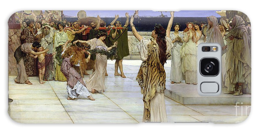 Dedication Galaxy Case featuring the painting A Dedication To Bacchus by Sir Lawrence Alma Tadema