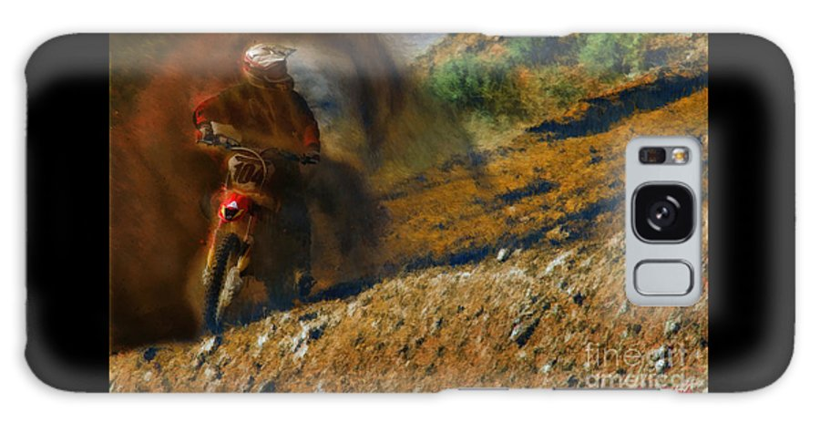 Motocross Galaxy S8 Case featuring the photograph A Dirty Sport by Blake Richards