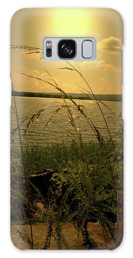 Lake Galaxy S8 Case featuring the photograph A Distant Shore by Nina Fosdick