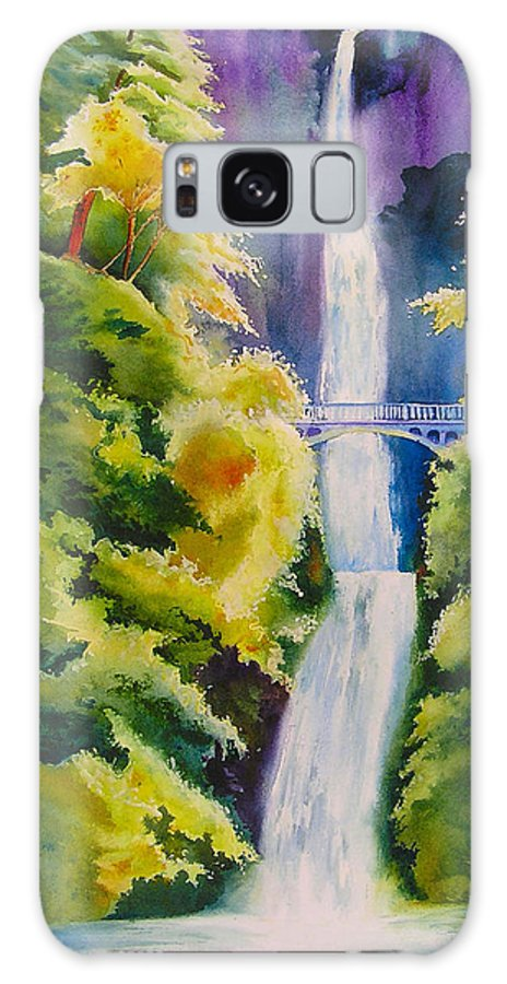 Waterfall Galaxy S8 Case featuring the painting A Favorite Place by Karen Stark