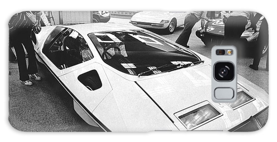 1970's Galaxy S8 Case featuring the photograph A Ferrari Modulo At Auto Show by Underwood Archives