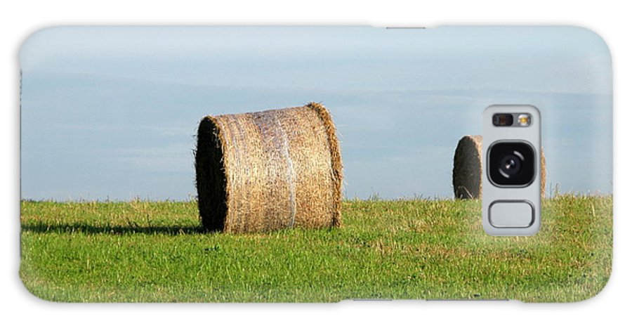 Haybales Galaxy S8 Case featuring the photograph A Fine Day by Maria Joy