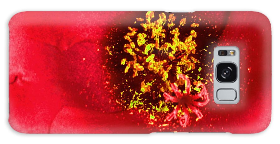 Abstract Galaxy S8 Case featuring the photograph A Flower With In A Flower-abstract-debbie May by Debbie May