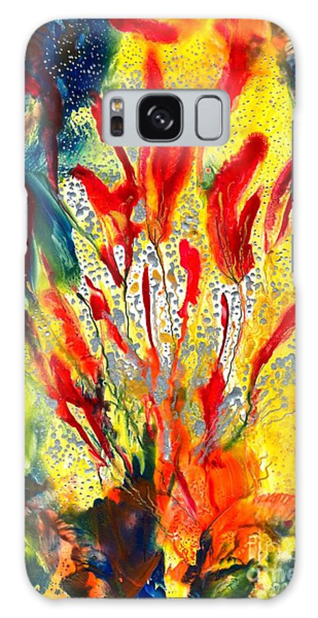 Healing Galaxy Case featuring the painting A Gateway To Americo Healing by Heather Hennick