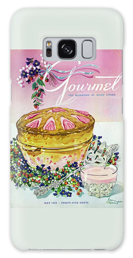 Illustration Galaxy Case featuring the photograph A Gourmet Cover Of A Souffle by Henry Stahlhut