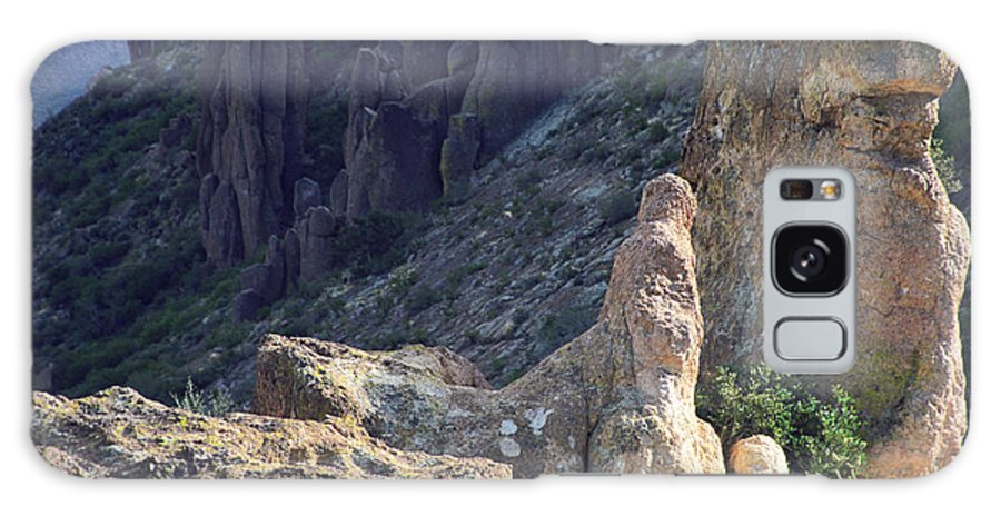 Rock Formations Galaxy Case featuring the photograph A Hard Ride by Kathy McClure