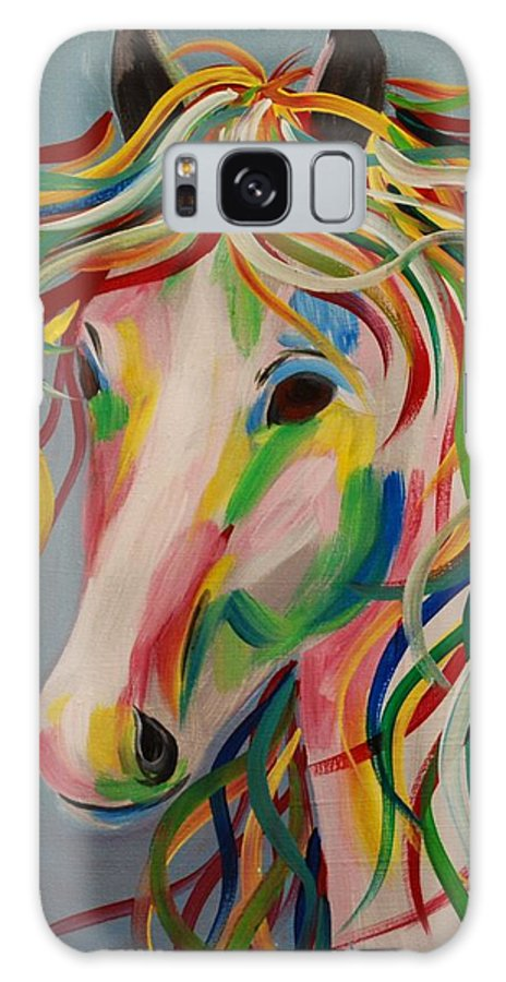 Horse Galaxy S8 Case featuring the painting A Horse Of A Different Color by Emily Page