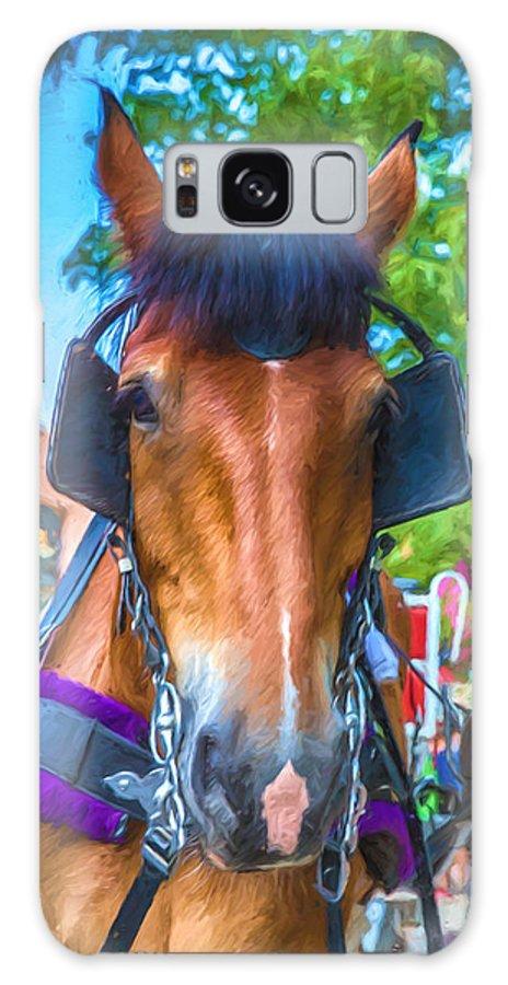 Horse Galaxy S8 Case featuring the digital art A Horse Of Course by John Haldane