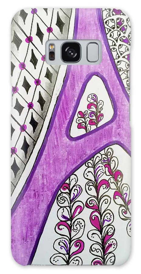 Lettering Galaxy Case featuring the drawing A is for Amy by Suzanne Udell Levinger