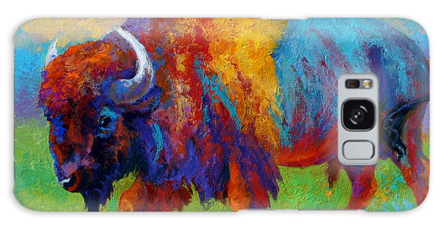 Wildlife Galaxy Case featuring the painting A Journey Still Unknown - Bison by Marion Rose
